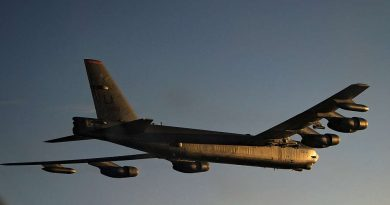 USAF B-52 flyby at Warbirds over Wanaka 2020