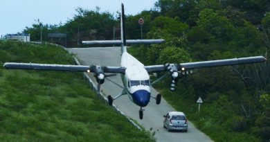 CRAZY downhill LANDINGS at St. Barth