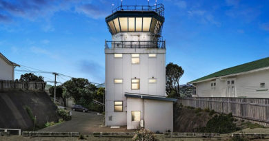 For sale: old Wellington air traffic control tower.